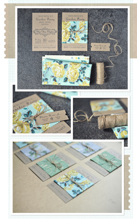 Nice way to use fabric with your invites!