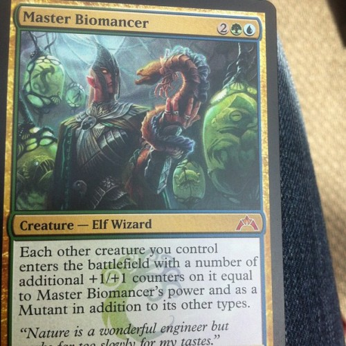 Just pulled Master Biomancer… No biggy #magicthegathering #mtg #magiccards #masterbiomancer #awesome #card #happy #nofilter