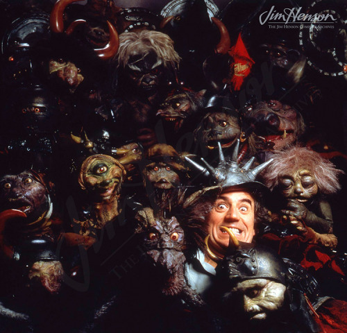 Terry Jones with the goblins from Labyrinth.