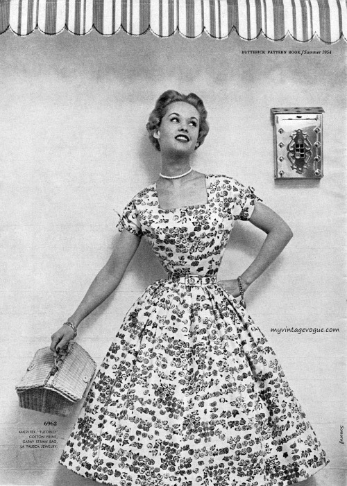 Butterick Pattern Book / Summer 1954 Tippi Hedren - Photo by Ben Somoroff