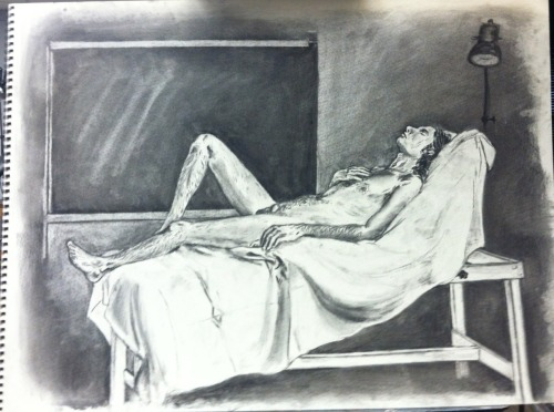 It amazes me how much one can improve in just one semester! Figure Drawing 24x18, charcoal - Aida TrevinoTumblr