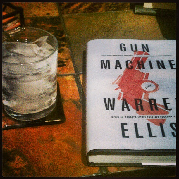 Vodka with a straight shot of Book 2 of 52: Gun Machine by Warren Ellis. I expect this will improve my mood.