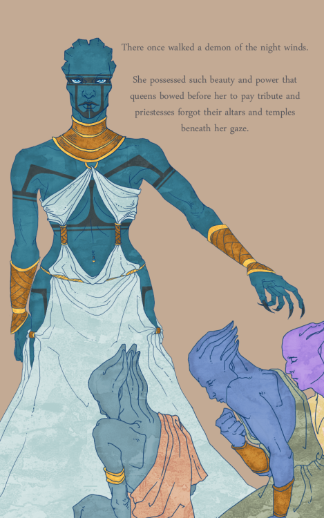 first page of the ardat-yakshi fairy tale thing i've had bouncing in my head for a good two months now. though at the rate i am drawing in this style, i just might finish before the year 2180 or so :| (entire thing so far here)