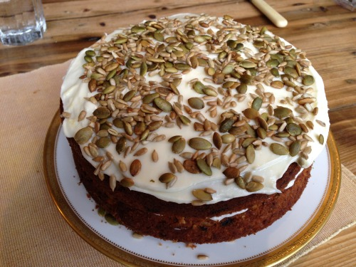 April 2013- Easter Monday carrot and courgette cake, gluten free