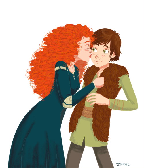 Merida/Hiccup. It somehow works! <3 ETA: Inspired by Rise of the Brave Tangled Dragons.