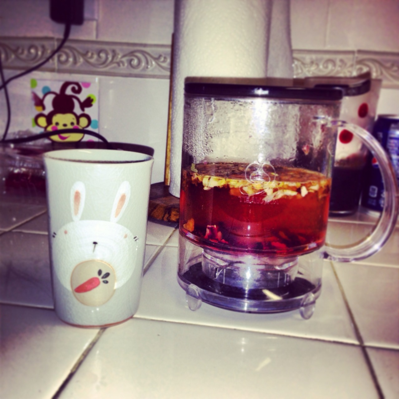A little night time tea before bed. This spiffy little teacup was in my Easter basket, my boyfriend knows me so damn well!