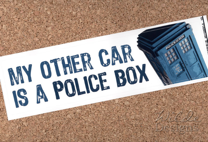 Sold a My Other Car is a Police Box bumper sticker