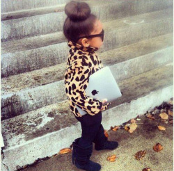f-ashionlookbook:  Cute little fashionista: Alaia Rose Barbier