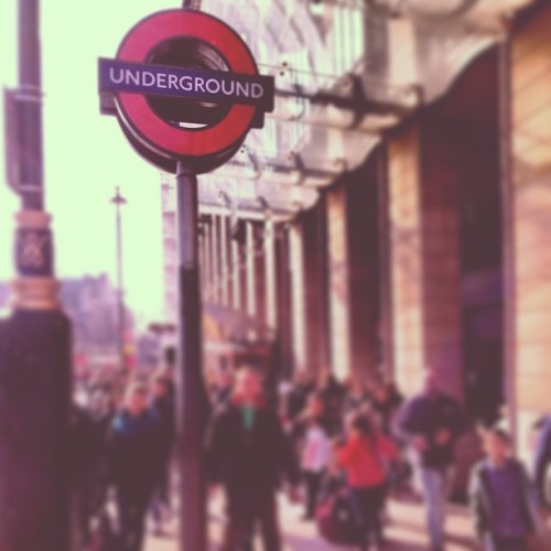 this way underground• #thetube #london #throwback #railway