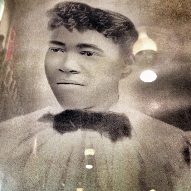 This is the first time I saw a portrait of an African American in Cracker Barrel. (at Cracker Barrel)