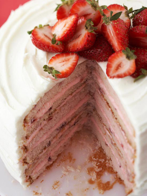 Six-Layer Strawberry Cake: A dash of strawberry liqueur makes this sweet treat even more decadent.