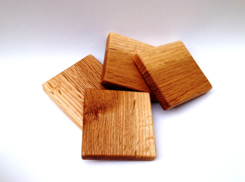 White Oak coasters, now available on Etsy: josephthompsonwood.etsy.com