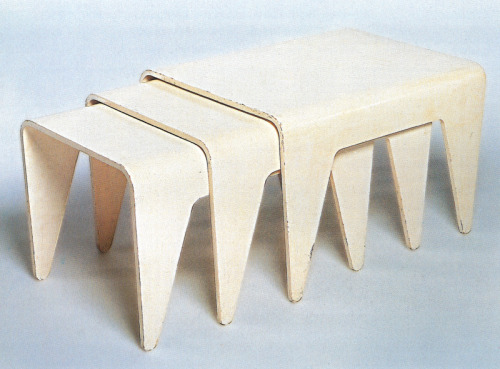 Marcel Breuer, Stacking Tables, 1936