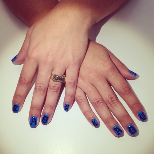 Emily, YOU GOT PIMPED !! LADY nails for @Ladycapricemag !  (à This Is Venice - Salon)