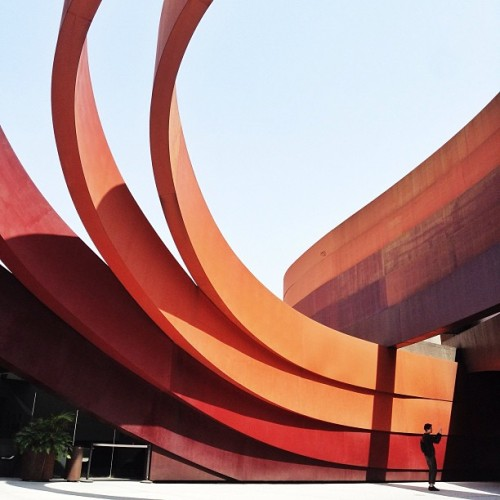 Courtyard of the Holon Design Museum by Ron Arad #architecture #archdaily #israel #holon #design #museum #instagood #iphonesia #ronarad (at Holon Design Museum)