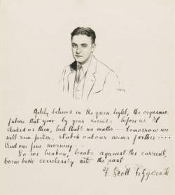 oyeandy:  F. Scott Fitzgerald's own handwriting.