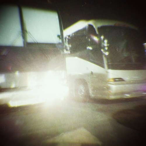 Buses Showed Up, it's looking an awful lot like a tour. (at Studio Instrument Rentals - SIR)