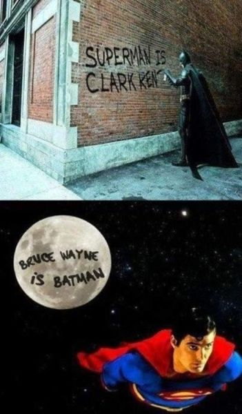 Superman one-ups Batman