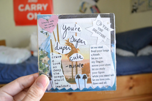 cl4y:  the cd case nicole made for me that holds a cd full of amazing songs. c: