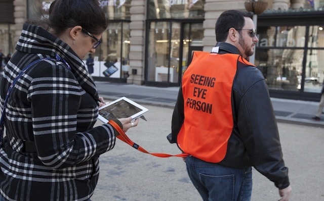 'Seeing Eye People' For Text-Obsessed NYC Pedestrians via DesignTAXI