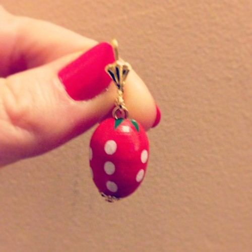 We're working on a little mini-run of strawberry earrings.  Etsy link coming soon.