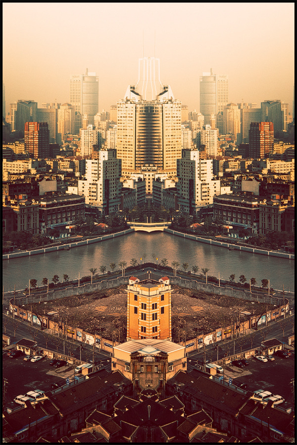 photojojo:  Atelier Olschinsky used Photoshop to make his images of China perfectly symmetrical. The mirror-like effect adds a fascinating twist to urban photography. Check out the rest of China In a Mirror below!  China In a Mirror - Symmetrical Photographs of Urban China via Sweet Station