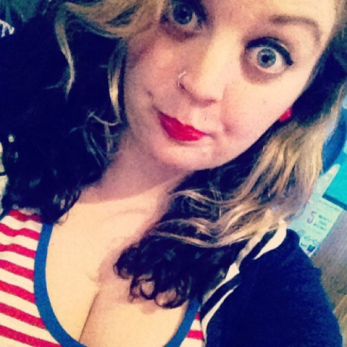 Forever wishing I was sailor. #sailor #red #lips #girl #meow #me #self #portrait