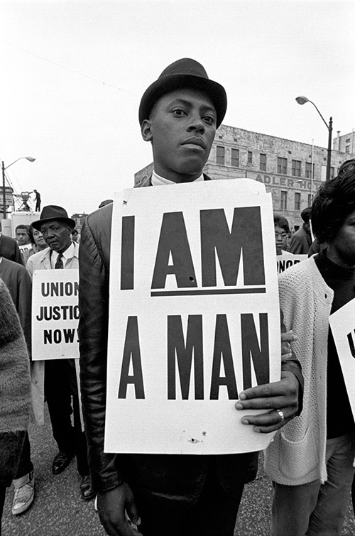 butdoesitfloat.com curates photographs of civil rights I am a Man demonstrations. powerful.  Powerful indeed. -Mr. Bohs
