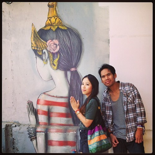 Taking a picture next to this dope art in Phnom Penh submitted by: Rothana Hem via Email