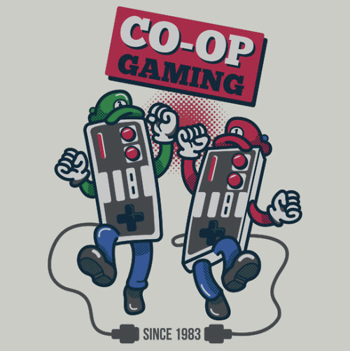 insanelygaming:  CO-OP Gaming T-shirts and stickers available on RedBubble Created by MeleeNinja