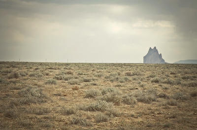 mpdrolet:  Shiprock (what the Navajo called the rock Tsé Bit' A'i, or Rock with Wings), New Mexico Mark Peter Drolet