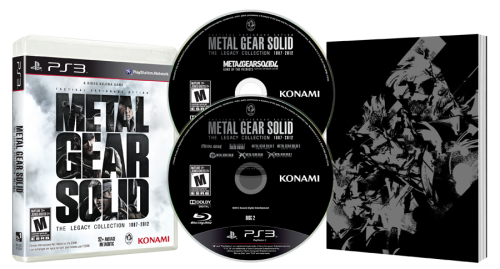 Sony Announce Metal Gear Solid: Legacy for PS3 Exclusive to the PS3, Konami and Kojima Studios partnered with Sony to reveal an exclusive for the PS3 titled Metal Gear Solid: Legacy. It contains eight full games- Metal Gear, Metal Gear 2, Metal Gear Solid, Metal Gear Solid 2: HD Edition, Metal Gear Solid 3: HD Edition, Metal Gear Solid 4, Metal Gear Solid: Peace Walker HD Edition, and Metal Gear Solid: VR Missions. Not only that, but it will include two Ashley Wood Bande Desinee graphic novels that have never been released in North America or Latin America before. Still not convinced? How about the inclusion of a 100 page artbook? All of this for $49.99. You can pre-order it on Amazon and other retailers.
