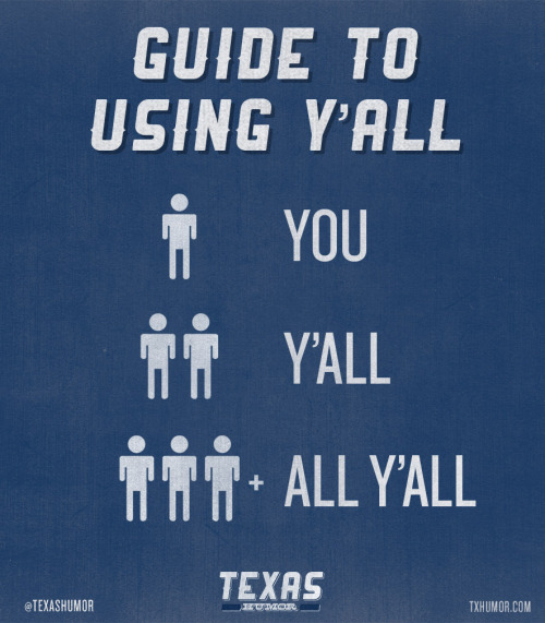 "A guide for using ""y'all"":"