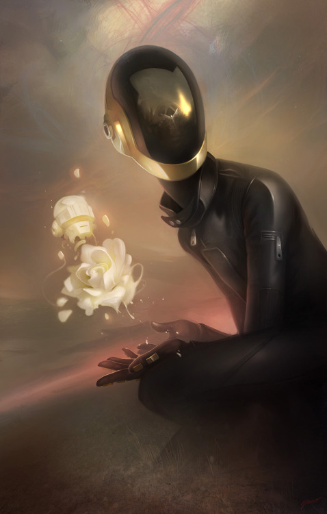 geek-art:  Geek-Art.net : Rediscovery : an artshow tribute to Daft Punk @Gauntlet Gallery Art by Dave Greco