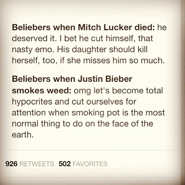 #enoughsaid #retweetsonretweets #mitchlucker #justinbeiber #hypocrites
