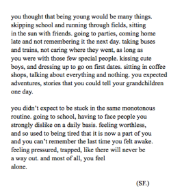 myteenagedaydream:  autumnseeds:  Being Young (2013)  this