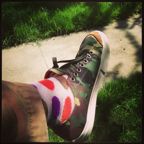 Weekend wear, Japanese socks and  shoes from @thehundreds