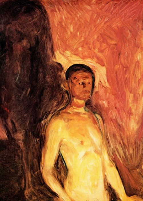 Edvard MunchSelf-Portrait in Hell (1903)