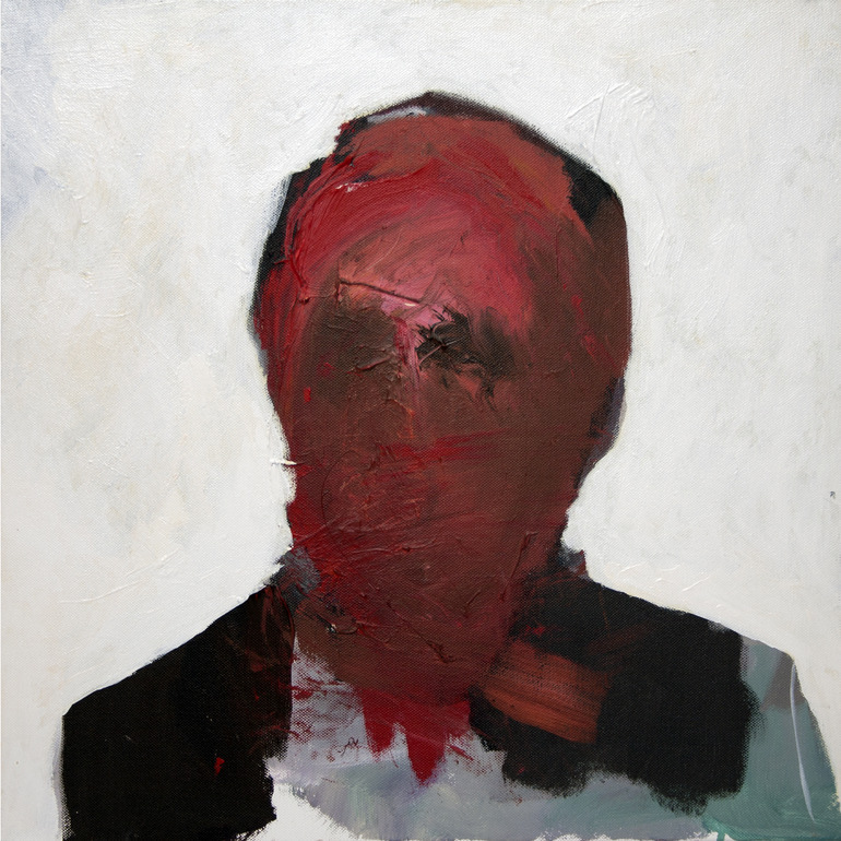 darksilenceinsuburbia:  Enrico Olia. Manager's Portrait 4. Acrylic on canvas.