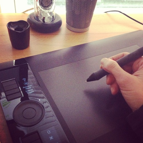 Happiness is a new tip in your WACOM pen. #comics