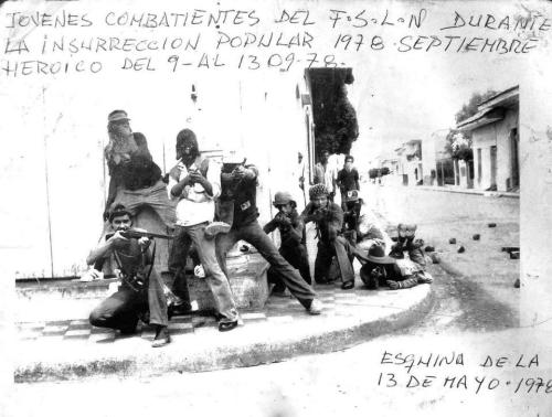 """Young combatants of the FSLN during the [Nicaraguan] people's insurrection of 1978"""