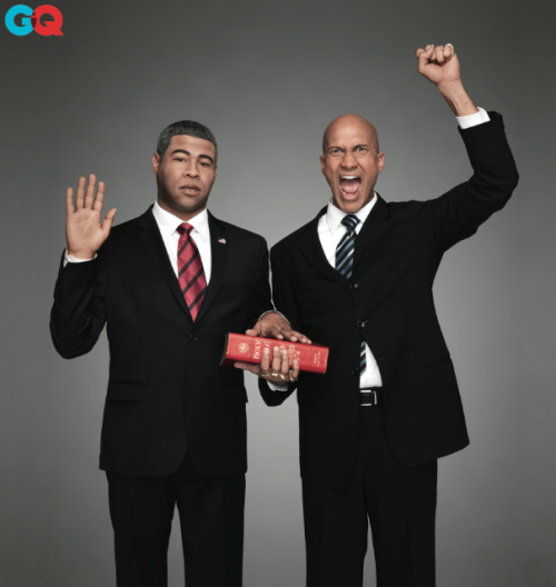 Just in time for Monday's inauguration, GQ got Obama and Luther to share their plans for the POTUS's second term. Meanwhile, they also sat down with Keegan and Jordan for a Newlywed Game-style video. Key & Peele returns with new episodes this fall. [Photo: Dan Winters/GQ]