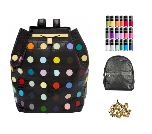 Those Damien Hirst x The Row bags are fabulous. P.s I made this collaborated with Who What Wear to create a DIY that shows you how to customize your own bag to create a similar look with pins and nail polish. Genius!