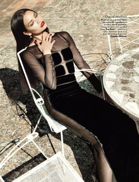 leahcultice:  Shanina Shaik for Vogue India December 2012