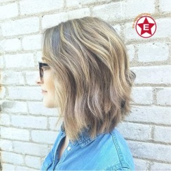 Beige balayage + textured bob = 😍😍😍 by Hannah || #aveda #hairgoals #lob #balayage #hairofinstagram #hairinspo #hairideas || (at The Establishment Salon)