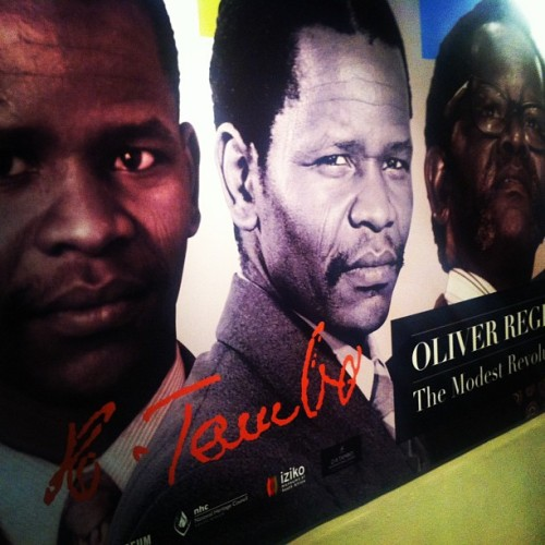 dynamicafrica:  Really incredible Oliver Tambo exhibit at the Slave Lodge #Museum in #CapeTown. #southafrica (at Slave Lodge Museum‎)