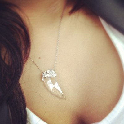 One of my favorite swvorvski necklaces #angel #swvorski #necklace