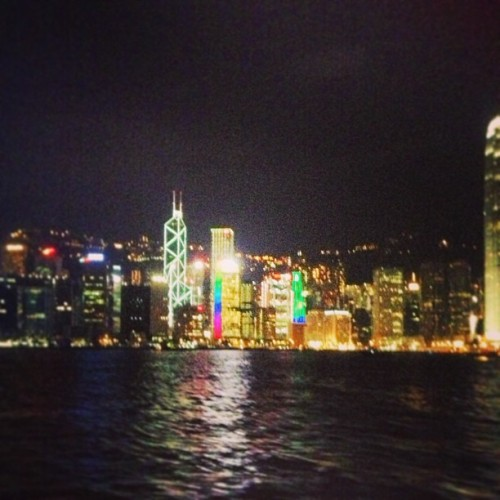 Always a sight to see while crossing Hong Kong harbour via ferry  (at Tsim Sha Tsui 尖沙咀)