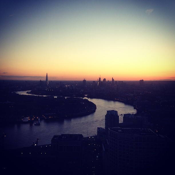 Sunset over London (at Level39)
