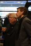 "With William H. Gass, at ""The Soul Inside the Sentence,"" an exhibition exploring the author's life and work. Photograph © Washington University Libraries, organizer of the exhibition."